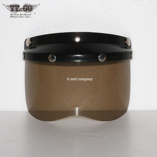 Black Mini Visor with Light Smoke Shield