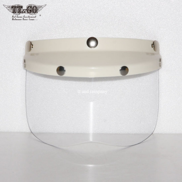 Ivory Mini Visor with Clear Shield