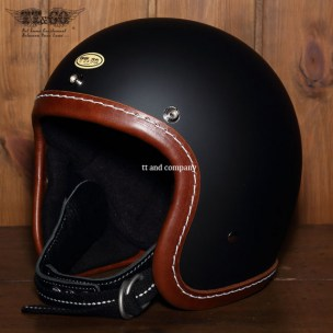 500-TX Leather Trim Shot Style Brown Matt Black