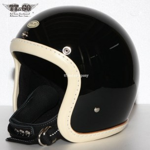 500-TX Leather Trim Shot Style Vintage Ivory Black