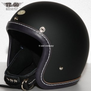 500-TX Leather Trim Shot Style Vintage Navy Blue Matt Black