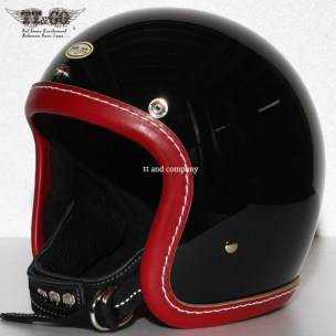 500-TX Leather Trim Shot Style Vintage Red Black