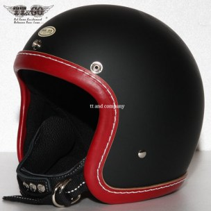 500-TX Leather Trim Shot Style Vintage Red Matt Black
