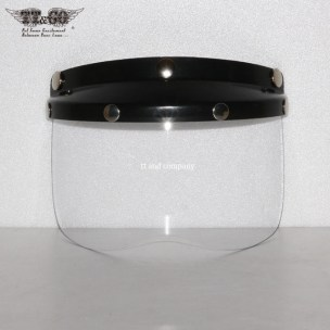 Black Mini Visor with Clear Shield