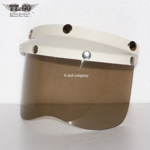Ivory Mini Visor with Light Smoke Shield