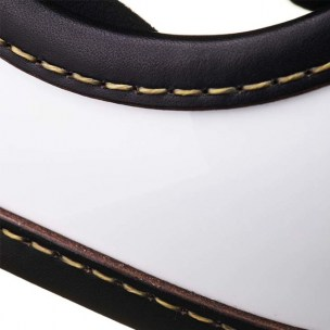 Toecutter Leather Trim Hand Sewn Black Leather White