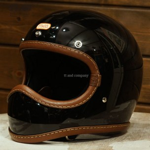 Toecutter Leather Rim Shot Hand Sewn Brown Leather on Black