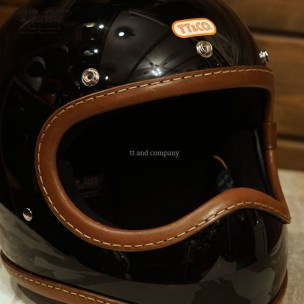 Toecutter Leather Trim Hand Sewn Brown Leather Black