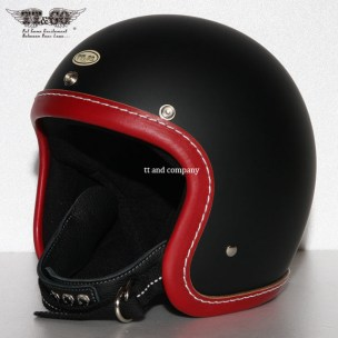 Super Magnum Leather Trim Red Matt Black